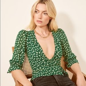 Reformation Emma Top Chive